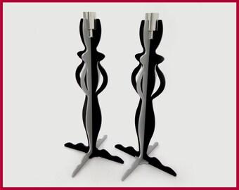 pillar candlestick/shabbat candlestick holder/housewarming gift/table centerpiece/metal candlestick/candle holder centerpiece