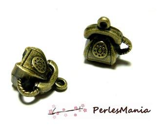 Hobby: 10 pendants bronze small 3D 2D1632 DIY phone charm