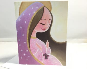 Grußkarte: Unsere Dame von Guadalupe, schwanger, Mutter Gottes, Heilige Mutter, Christian, Jesus