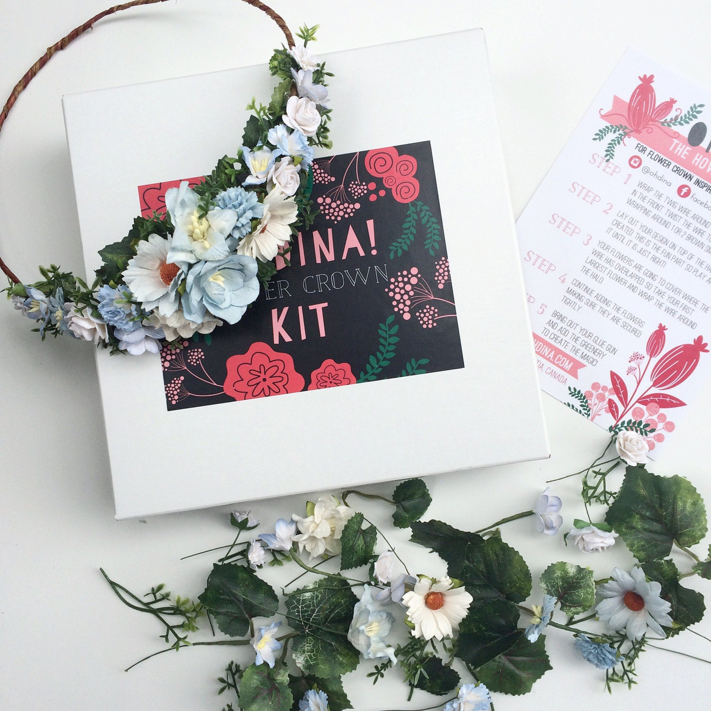 Winter Flower Crown Diy Kit Holiday Flower Crown Kit