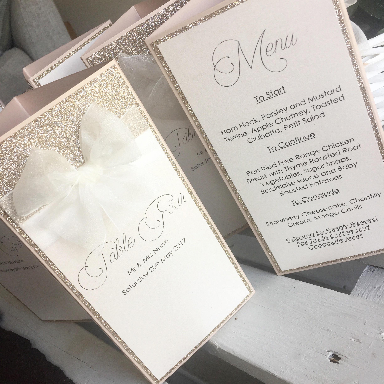 Wedding Menu / Wedding Breakfast / Menus / Trifold Menu /