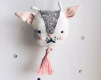 Brooch Goat Embroidery Handmade Soft Toy
