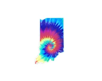 Indiana Tie-Dye Sticker