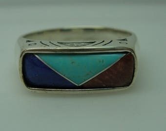 Womens Southwest style Silver ring