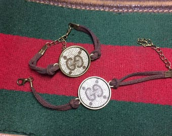Gucci Bracelet, Gucci Friendship Bracelet, Upcycled, Repurposed, ONLY authentic Gucci bags used
