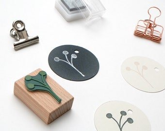 Stamp Twig with Buds, Floral Rubber Stamp, Twig Stamp, Flower Stamp, Botanical Stamp, Stamp Gift Tags, Wooden Stamp, Plant Stamp, Bud