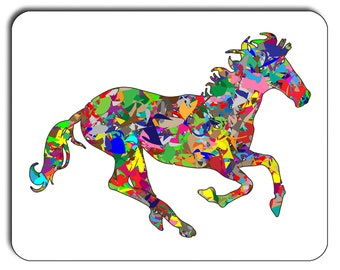 Psychedelic  Horse Mouse Mat, Mouse Pad