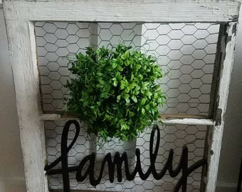 Family window pane