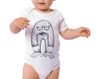 Monster Animals Childrens Graphic Screenprinted onesie Toddler Tee