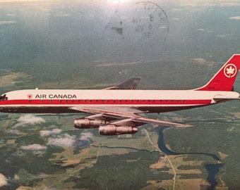 Vintage Postcard Air Canada Douglas DC-8 Aircraft Canadian Postcard Canada Airlines