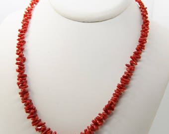 Mediterranean Red coral from Corsica certified .1er choice 50 cm necklace