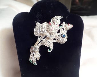 1930's Art Deco Floral Brooch