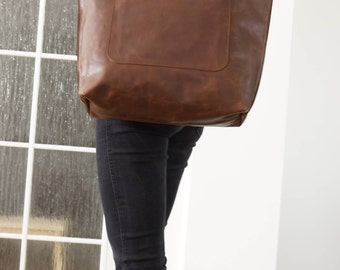 Leather Bag, Leather Tote Bag, Leather Tote, Leather Handbag, Leather Purse, Leather Laptop Bag, Leather Shopper, Amy - distressed brown