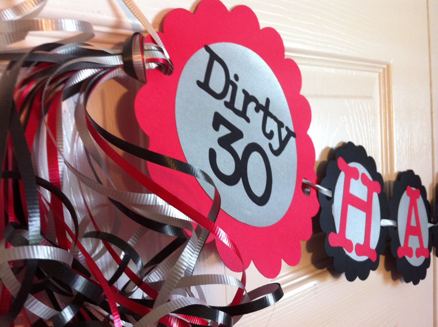 30th Birthday Decorations Dirty Thirty Personalization