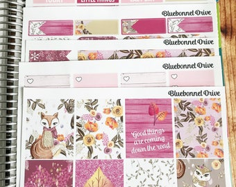 WOODLAND Sticker Kit for ECLP, Vertical Sticker Kit, Functional, Sized for Erin Condren Life Planner
