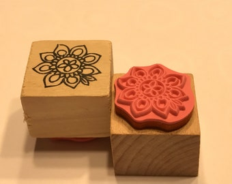 small flower rubber stamps, 20 mm (BB4/7)