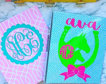 Monogrammed School Supplies - Personalized School Supplies - Monogrammed Binder - Personalized Binder - Three Ring Binder - School Supplies