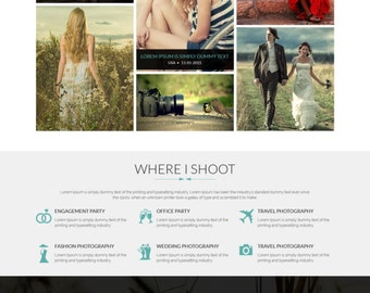 Photographer Portfolio Template, WordPress Website, Portfolio Website, Photographer Portfolio Theme, Website Design, WordPress Web Template