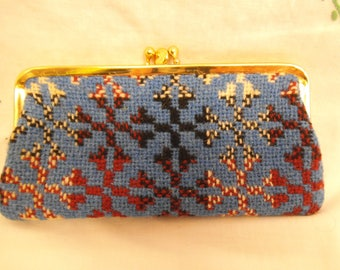 Original Vintage 1970's Welsh wool tapestry Purse