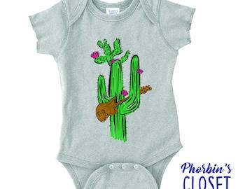 Phish Baby, Cactus Onesie, Cactus Baby Onesie, Bass Baby, Music Baby Shirt, Phish Inspired Onesie, Mike Gordon Onesie