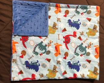 Dinosaur blanket, baby blanket, dino blanket, donosaur