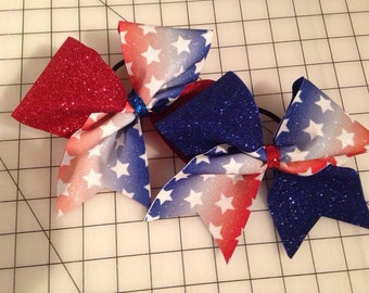 4th of July glitter bow. **Free shipping on this item!!!!!**