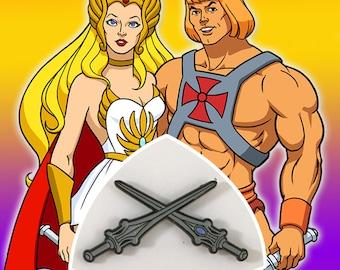 He-Man/She-Ra Swords of Power/Protection Pin