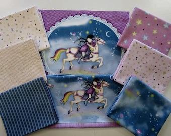 "Fabric Package ""Gorjuss Rainbow Dreams"" 8 pcs."