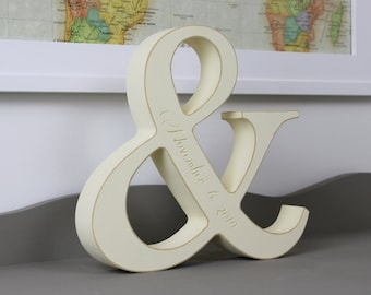 Engraved Ampersand With Anniversary Date