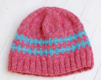 Hat Knitting For Dolls Like Blythe Giggi Patti 7-8 8-9 And Head Size Dolls Meadow Pink Turquoise