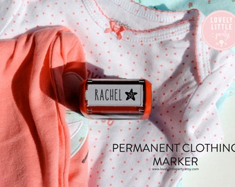 Custom Clothing Stamper, Unique Baby Shower Gift, New Nurse Gift, Uniform Stamper, Name Tag Stamper style 121 - Lovely Little Party