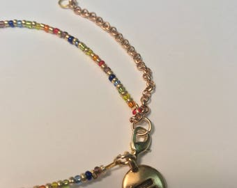 Gold or Bronze Equality & Pride Bracelet