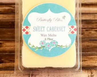 sweet cabernet wax melt | soy wax | wax melts | soy wax melts | wax tarts | safe soy wax | safe wax melts | sweet scented soy wax | soy wax