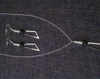 triangle set: necklace and earrings great Valentines gift