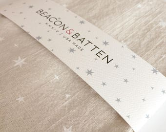 Scattered Stars Towel : Natural Ivory Ground - White Print