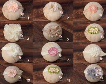 Newborn Headband Sets,Baby Headband,Baby Girl Headband,Infant Headband,Headband,Photo Prop,Flower Headband,Newborn Photo Prop,Baby Headbands