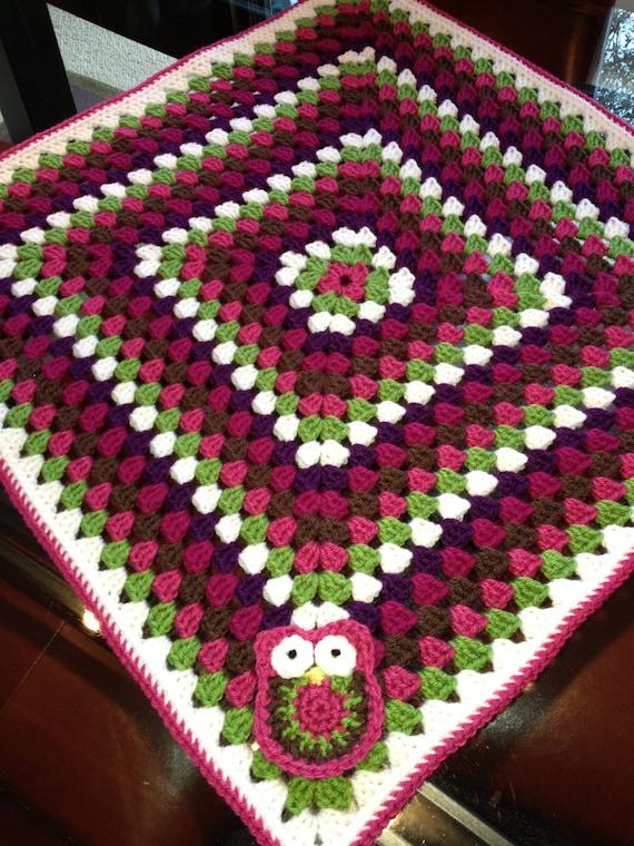 PATTERN Crochet Baby Blanket Granny Square Car Seat /