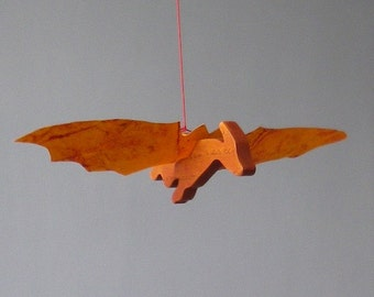 dragon wood and paper mobile