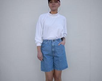 Vintage High Waisted Denim Stretch Shorts