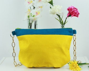 Two-tone YELLOW shoulder bag