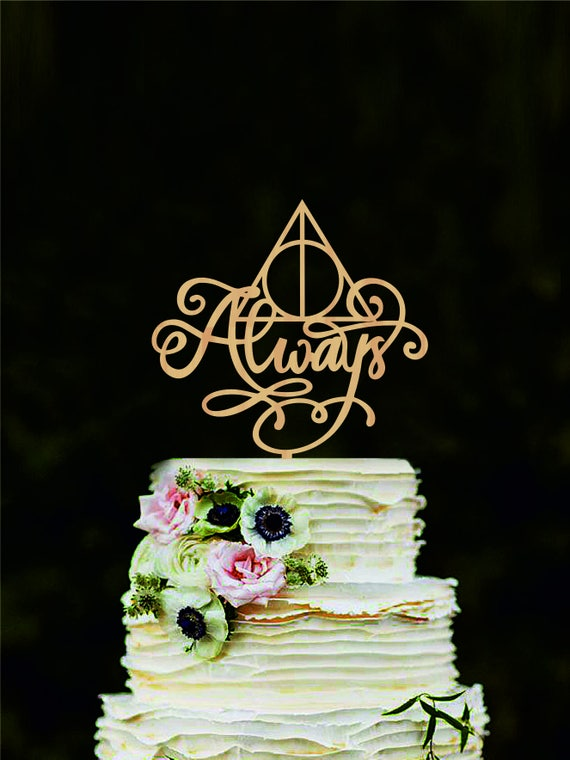 Marvelous Harry Potter Wedding Cake Topper Always Cake Topper Harry