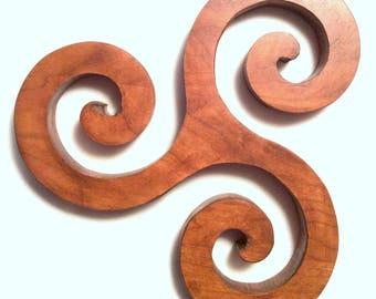 Celtic Triskele Triple Spiral Trivet and Wall Art