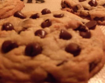A Pound of Homemade Chocolate Chip Cookies with Walnuts