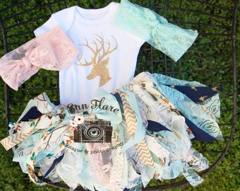 Baby girl coming home outfit-camo baby-deer outfit-take home