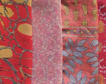 Fat Quarters, Silk Fabric, Sari Silk, FQ 152