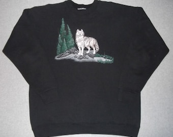 Vintage 80s 90s Teen Wolf Woods Sweatshirt Tacky Gaudy Ugly Christmas Sweater Party X-Mas Winter Warm Holiday XL Extra Large