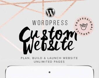 Custom Website Design, Wordpress Website Design, Web Design, Blog Design, Shop Design, Ecommerce Web Design,  Responsive Website and Blog