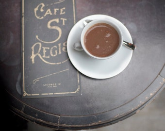 Paris Cafe Photography - Afternoon at St. Regis, Paris Cafe, Large Wall Art, Home Decor, French Kitchen Art