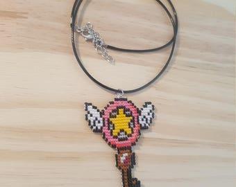 Card Captor Sakura Clow key necklace