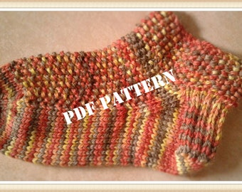 Socks pattern for beginners, knitting pattern, easy socks, pdf file, yoga socks